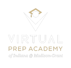 Virtual Prep of Indiana White & Gold Logo - Virtual Prep Indiana at Madison-Grant - Tuition-free Online Public School